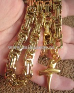 Lant +medalion INOX placat  ( otel inoxidabil ) cod mihasem236