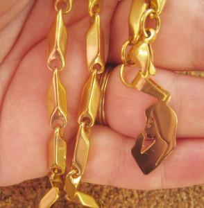 Lant   +medalion INOX  placat ( otel inoxidabil ) cod mihasem445