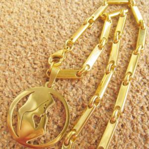 Lant   +medalion INOX  placat  ( otel inoxidabil ) cod mihasem572