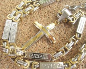Lant +medalion INOX placat ( otel inoxidabil ) cod mihasem612
