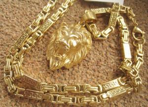 Lant+medalion  INOX  placat  ( otel inoxidabil ) cod mihasem631