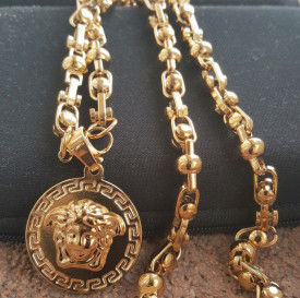 Lant +medalion INOX placat ( otel inoxidabil ) cod mihasem742