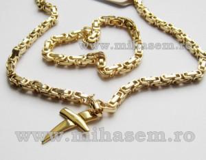 SET Lant +medalion +bratara INOX placat cod mihasem148