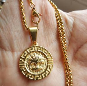 Lant dama +medalion INOX ( otel inoxidabil ) cod mihasem660