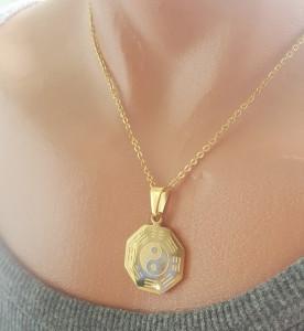 Lant dama +medalion INOX placat ( otel inoxidabil ) cod mihasem522