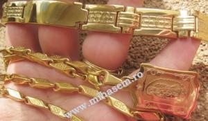 Lant+medalion+ bratara  INOX placat   ( otel inoxidabil ) cod mihasem276