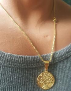 Lant +medalion INOX dama cod mihasem760