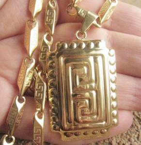 Lant +medalion INOX  ( otel inoxidabil ) cod mihasem036