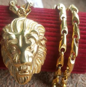 Lant +medalion INOX placat ( otel inoxidabil ) cod mihasem399