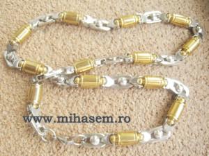Lant   +medalion INOX  placat  ( otel inoxidabil ) cod mihasem521