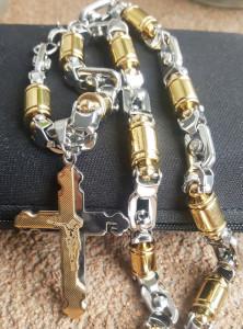 Lant +medalion INOX placat ( otel inoxidabil ) cod mihasem730