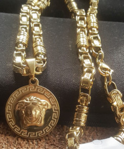 Lant +medalion INOX placat ( otel inoxidabil ) cod mihasem801