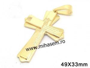 Medalion INOX   placat ( otel inoxidabil ) cod mihasem401