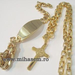 SET Lant +medalion+bratara INOX  ( otel inoxidabil ) cod mihasem496