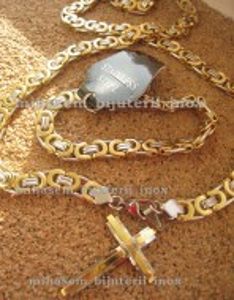 Lant +medalion +bratara INOX ( otel inoxidabil ) cod mihasem100