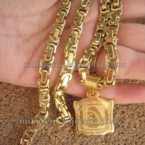 Lant +medalion inox ( otel inoxidabil ) cod mihasem025