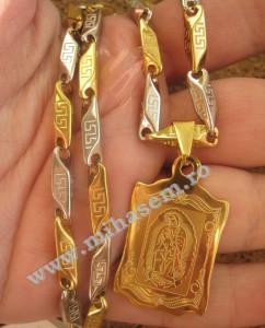 Lant +medalion  INOX  ( otel inoxidabil ) cod mihasem195
