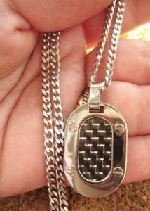 Lant +medalion   INOX ( otel inoxidabil ) cod mihasem686
