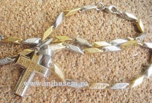 Lant +medalion INOX placat cod mihasem343