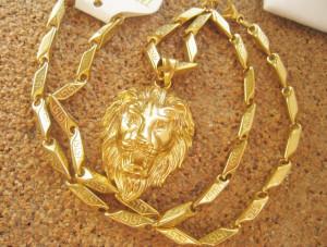 Lant+medalion INOX placat ( otel inoxidabil ) cod mihasem082