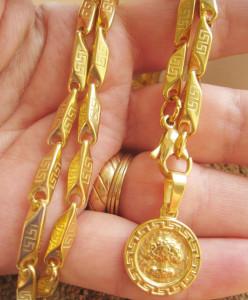 Lant +medalion INOX  placat  ( otel inoxidabil ) cod mihasem538