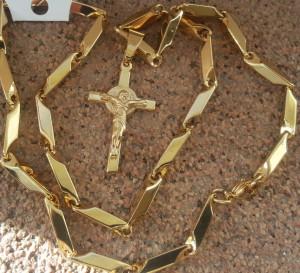 Lant +medalion INOX placat ( otel inoxidabil ) cod mihasem736