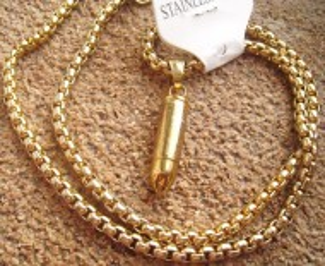 Lant  +medalion  INOX  placat  ( otel inoxidabil ) cod mihasem377