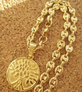 Lant +medalion INOX placat ( otel inoxidabil ) cod mihasem625