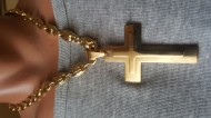 Lant +medalion INOX placat ( otel inoxidabil ) cod mihasem747