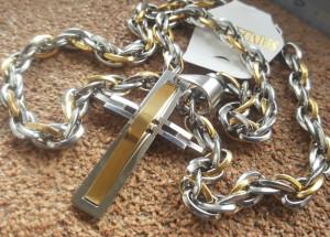 Lant +medalion INOX placat ( otel inoxidabil ) cod mihasem548