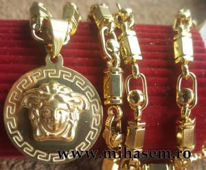 Lant +medalion INOX placat ( otel inoxidabil ) cod mihasem744