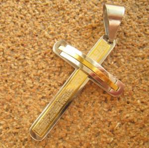 Medalion  INOX  placat  ( otel inoxidabil ) cod mihasem425