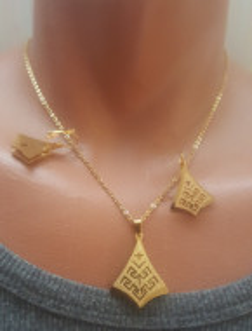 SET lantisor+medalion+cercei INOX cod mihasem767