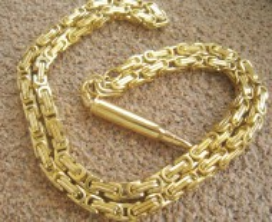 Lant+medalion INOX placat   ( otel inoxidabil ) cod mihasem409