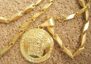 Lant   +medalion INOX  placat  ( otel inoxidabil ) cod mihasem520