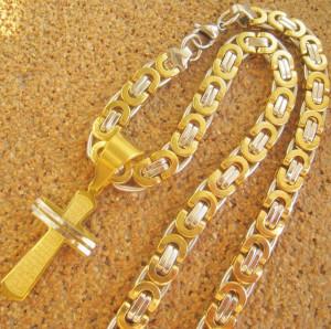 Lant +medalion INOX placat ( otel inoxidabil ) cod mihasem577