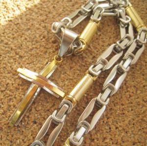 Lant   + medalion INOX placat  ( otel inoxidabil ) cod mihasem595