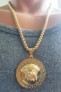 Lant +medalion INOX placat ( otel inoxidabil ) cod mihasem721