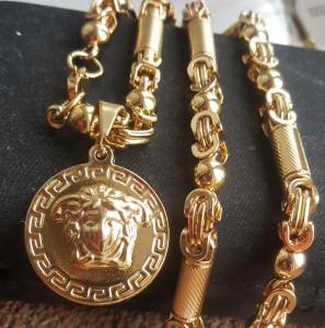 Lant +medalion INOX placat ( otel inoxidabil ) cod mihasem738