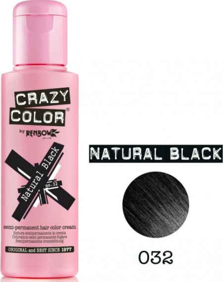 Crazy Color 032 natural black 100 ml