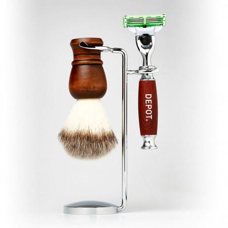 Depot shaving brush and razor stand