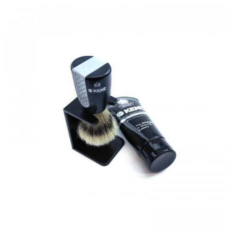 Set pamatuf cu suport + crema de barbierit Kent WET SET