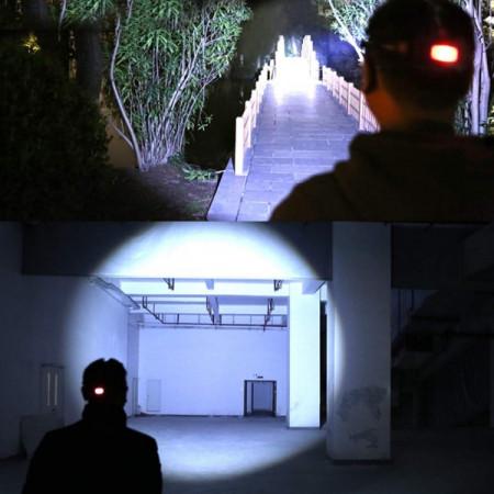 LANTERNA DE CAP 5 LED CU ZOOM FRONTAL
