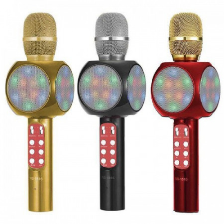 MICROFON KARAOKE CU LED WIRELESS BLUETOOTH