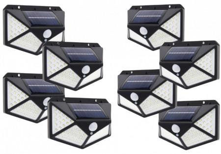 SET 8 LAMPI SOLARE 100 LED - 3 MOD ILUMINARE