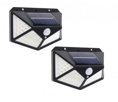SET 2 LAMPI SOLARE 100 LED-URI