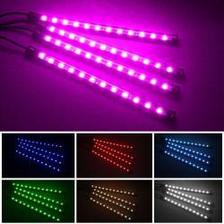KIT ILUMINARE AMBIENTALA LED INTERIOR MASINA, Multicolor RGB cu Telecomanda