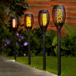 SET 4 LAMPI SOLARE TIP TORTA FLACARA 61CM