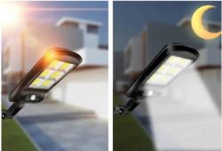 SET 4 LAMPI SOLARE TIP STRADAL 30W - TELECOMANDA + SENZOR MISCARE