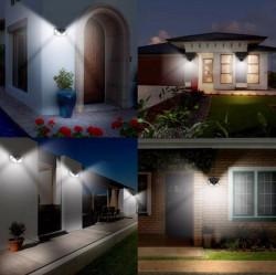SET 8 LAMPI SOLARE 100 LED - 3 MOD ILUMINARE - LIVRARE GRATUITA
